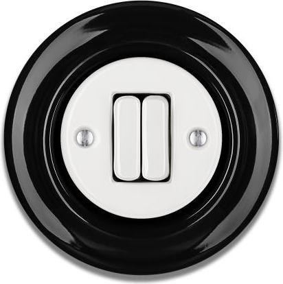 Porcelain switches - 2 gang ()  - ROBUS | Katy Paty