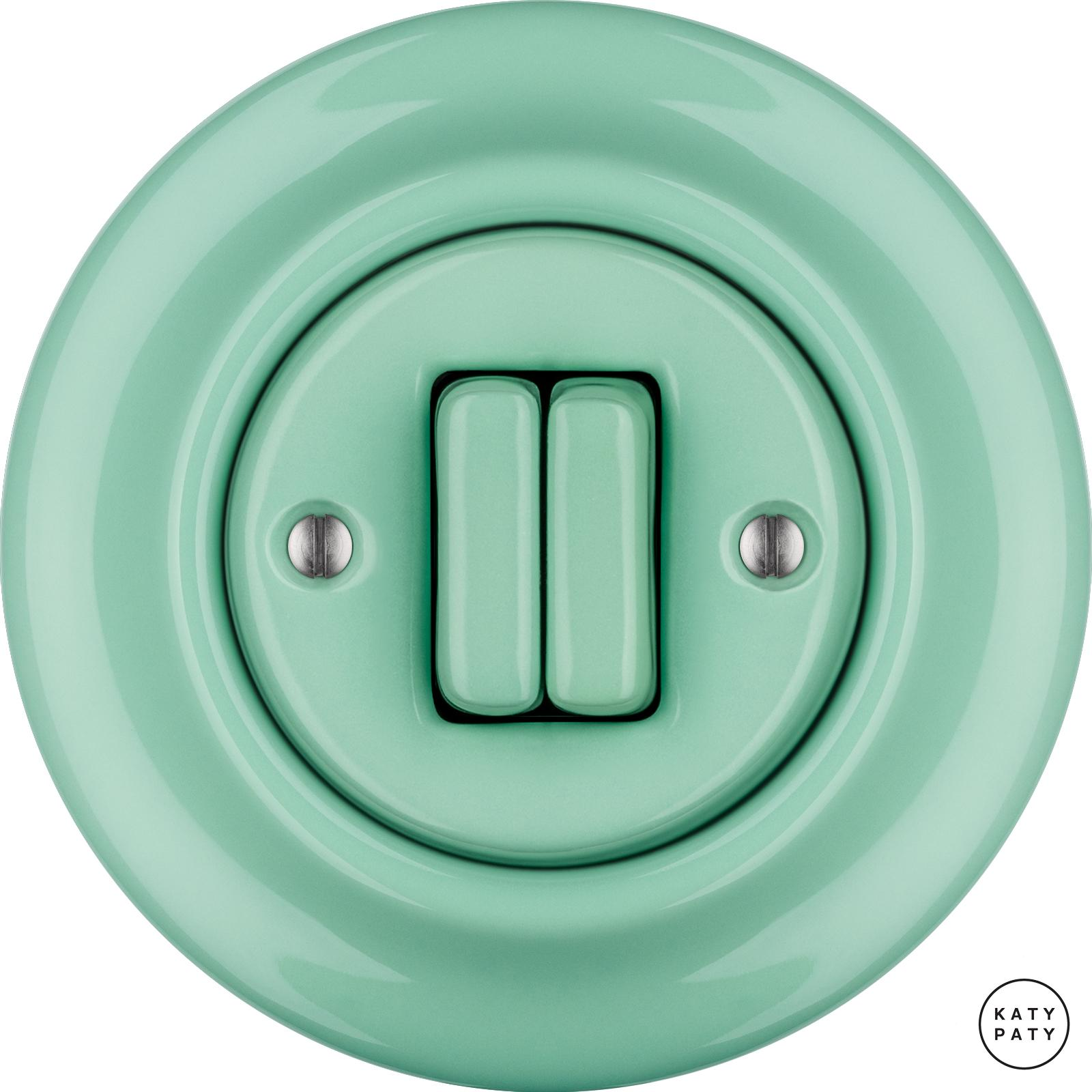 Porcelain switches - 2 gang ()  - PNOE MENTOL | Katy Paty