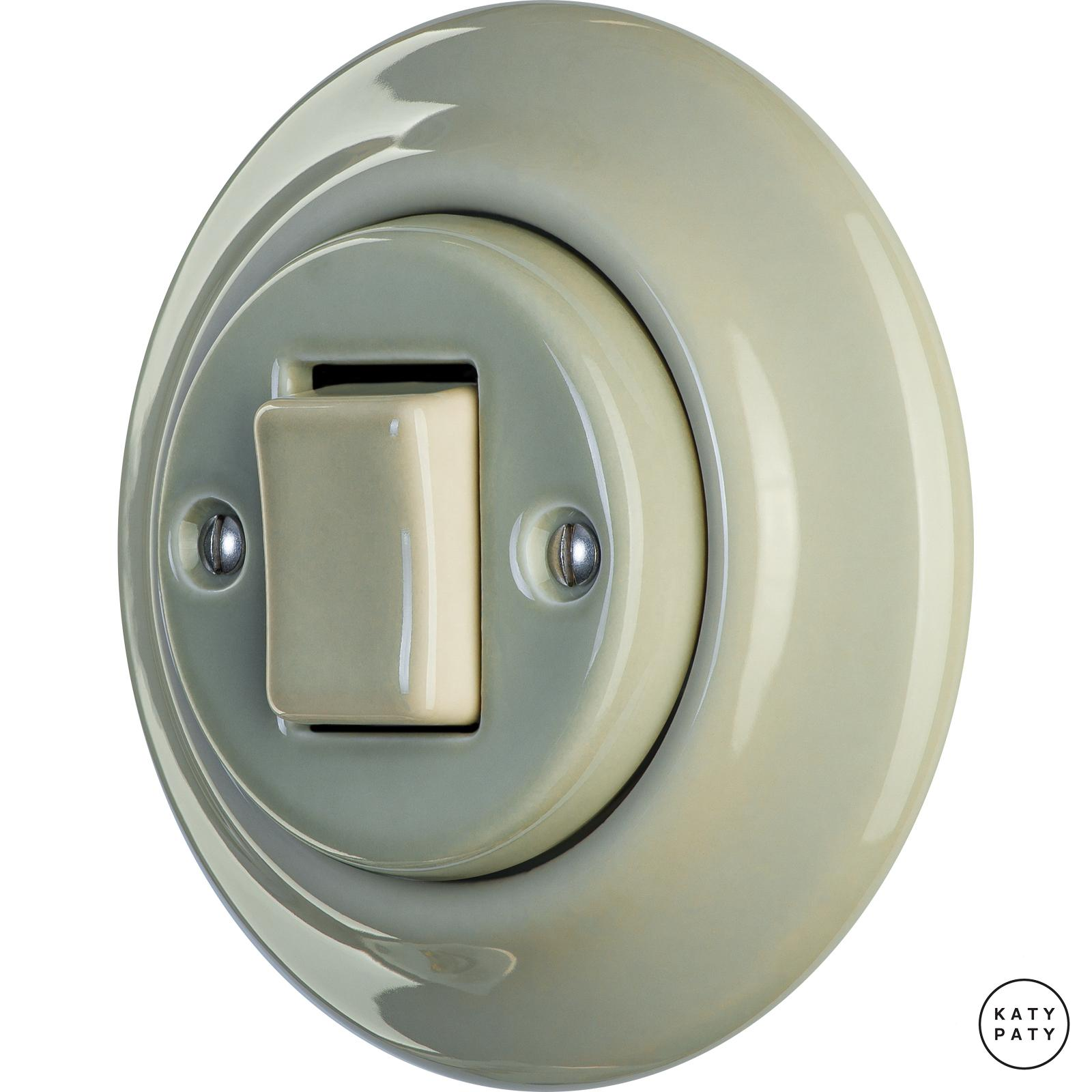 Porcelain switches - 1 gang - FAT ()  - CHLORA | Katy Paty