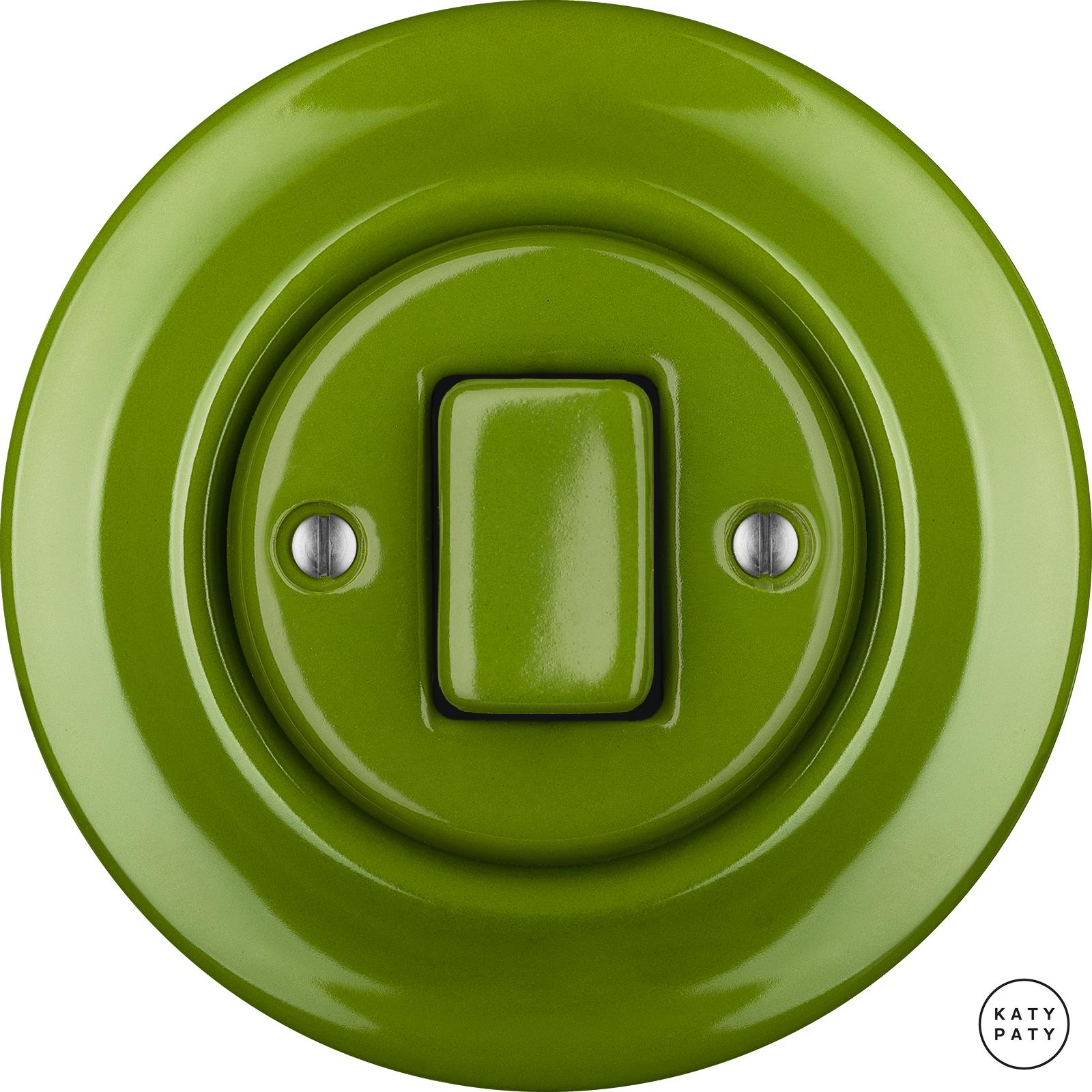 Porcelain switches - 1 gang - FAT ()  - NITOR CHLORA | Katy Paty