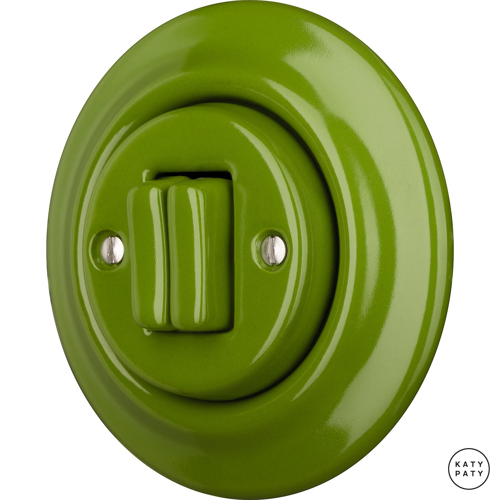 Porcelain switches - 2 gang ()  - NITOR CHLORA | Katy Paty