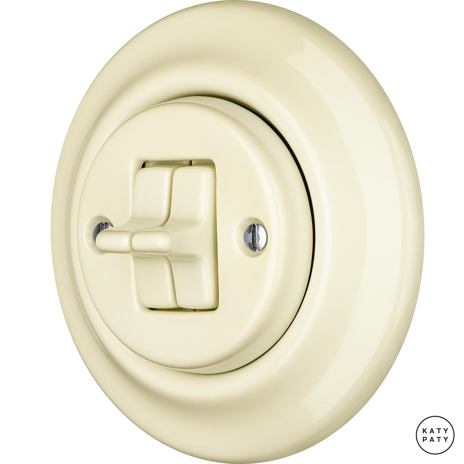 Porcelain toggle switches - a 2 gang ()  - PNOE FLAVA | Katy Paty