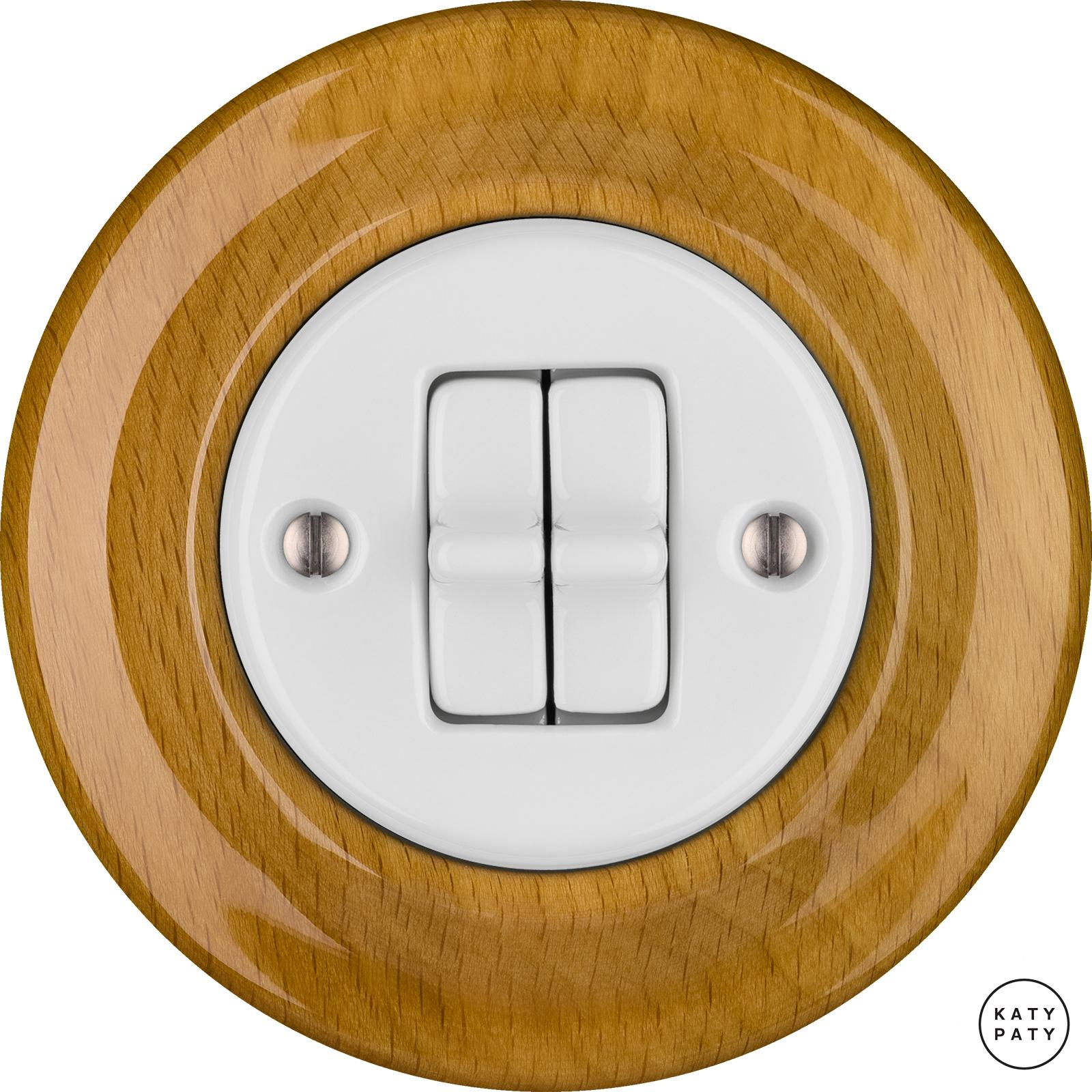 Porcelain toggle switches - a 2 gang ()  - FAGUS | Katy Paty