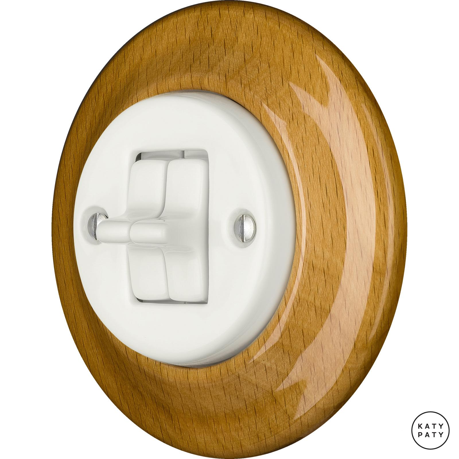 Porcelain toggle switches - a double gang ()  - FAGUS | Katy Paty