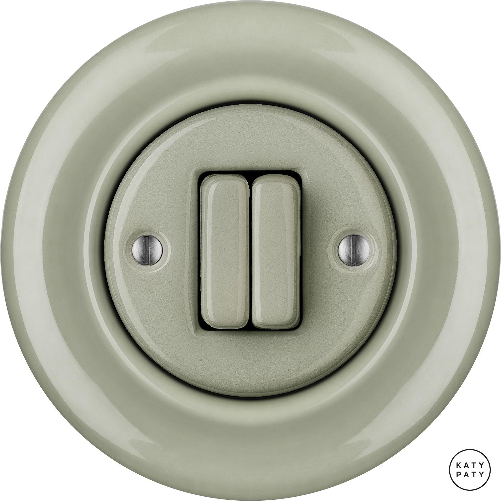 Porcelain switches - 2 gang ()  - CHLORA | Katy Paty