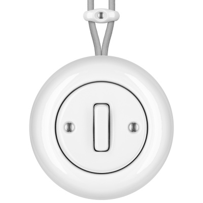 Porcelain switches - 1 gang - SLIM ()  - ALBA | Katy Paty