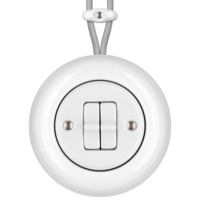 Porcelain toggle switches - a 2 gang ()  - ALBA | Katy Paty