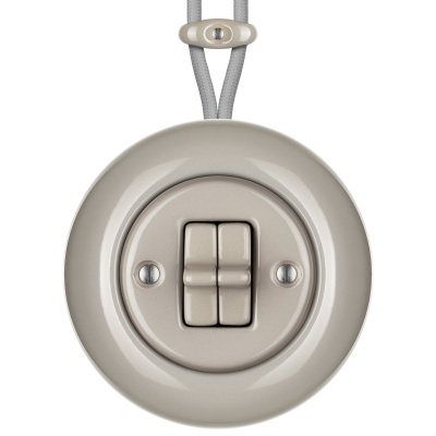 Porcelain toggle switches - a 2 gang ()  - LUCIDUM | Katy Paty