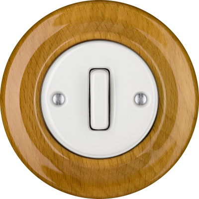 Porcelain switches - 1 gang - SLIM ()  - FAGUS | Katy Paty