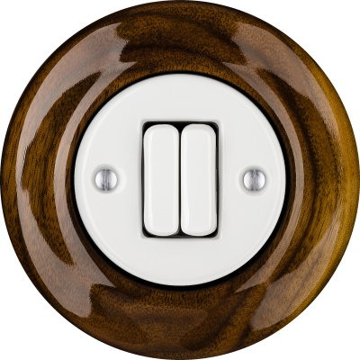 Porcelain switches - 2 gang ()  - NUCLEUS | Katy Paty