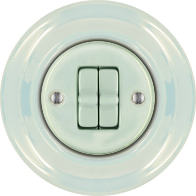 Porcelain toggle switches - a double gang ()  - CONCHA | Katy Paty