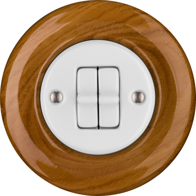 Porcelain toggle switches - a 2 gang ()  - ROBUS | Katy Paty
