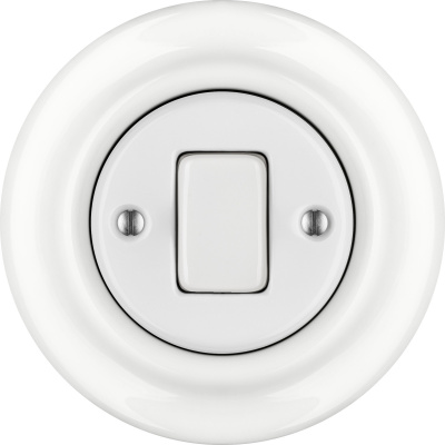 Porcelain switches - 1 gang - FAT ()  - ALBA | Katy Paty