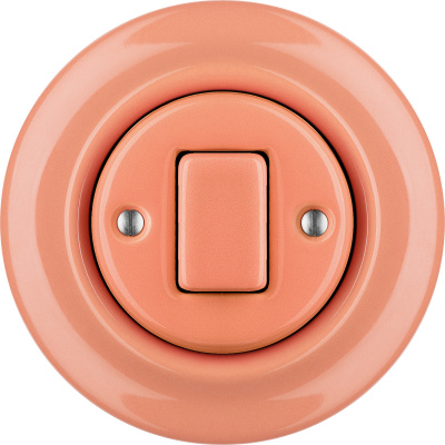 Porcelain switches - 1 gang - FAT ()  - PNOE SALMO | Katy Paty