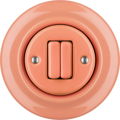 Porcelain switches - 2 gang ()  - PNOE SALMO | Katy Paty